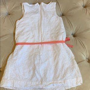 GAP Dresses - Gap white eyelet dress with ribbon